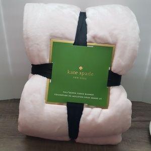 kate Spade- Full/Queen Fleece Blanket (soft pink)